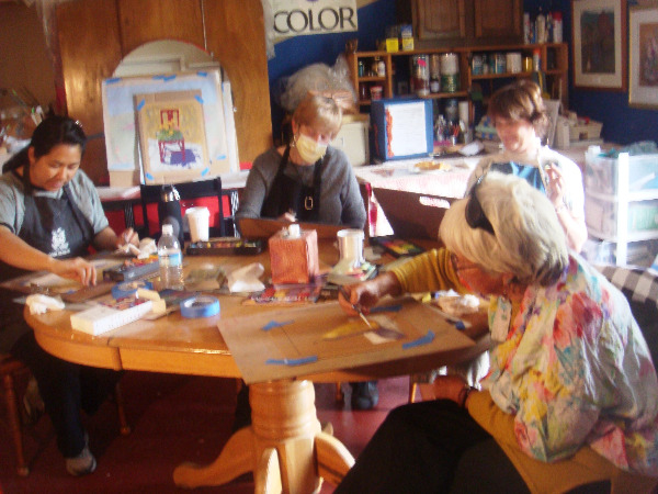 Cinda Sue's Pastel Workshop students
