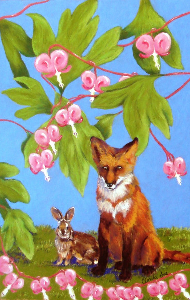 Fox & Rabbit-Pastel