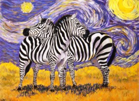 Van Gogh Zebras