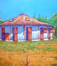 Miniature Horse Barn Pastel